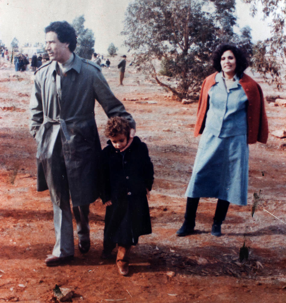 Полковник Муаммар Каддафи и его вторая жена Сафия Фаркаш