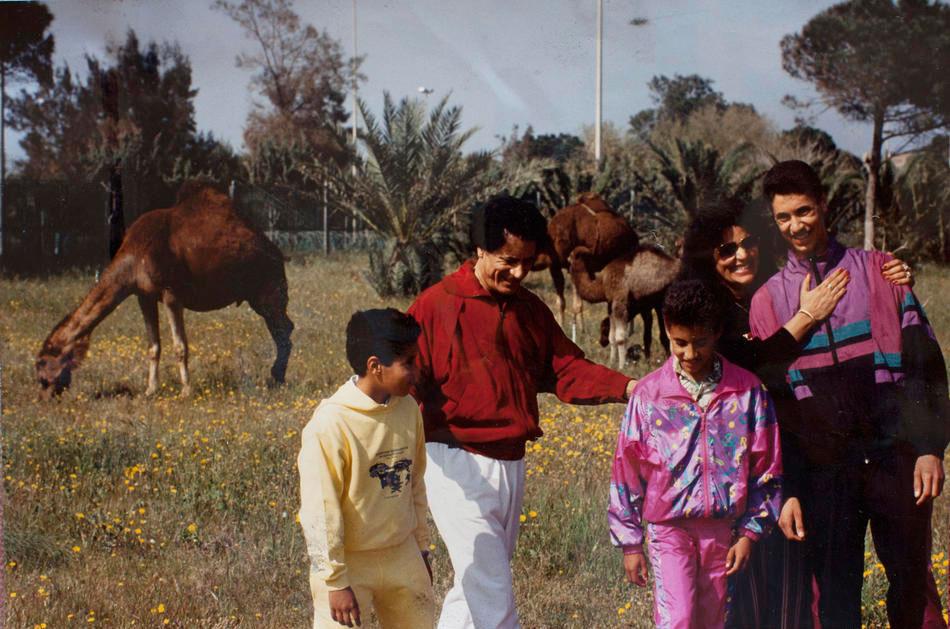 Муаммар Каддафи, его жена Сафия Фаркаш