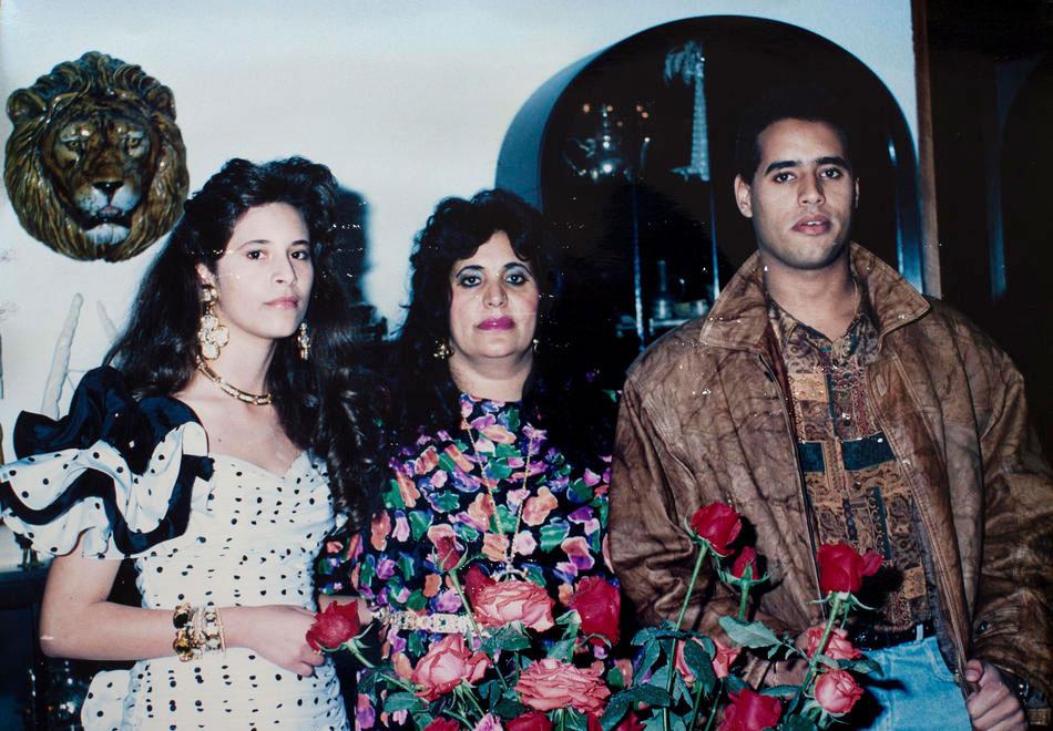 Дочь полковника Эйша, жена Сафия Фаркаш и сын Сейф аль-Ислам