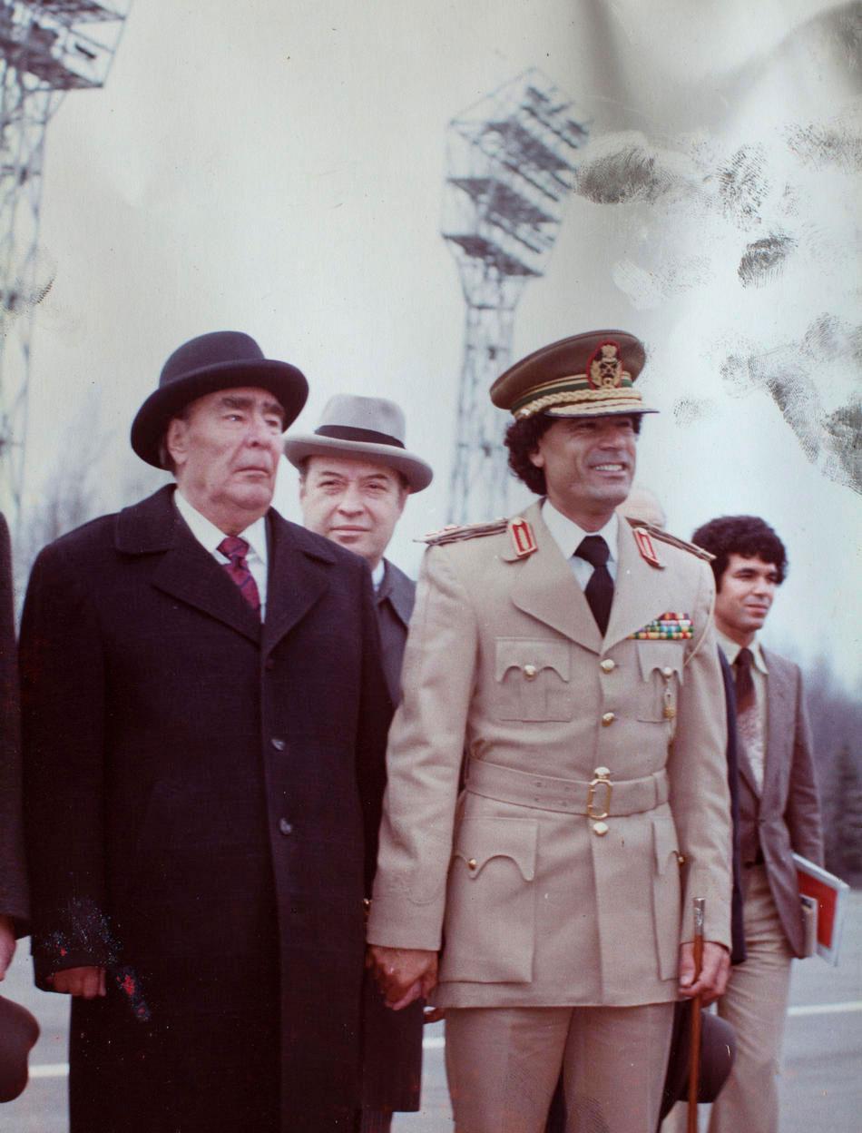 Леонид Ильич Брежнев и полковник Муаммар Каддафи: