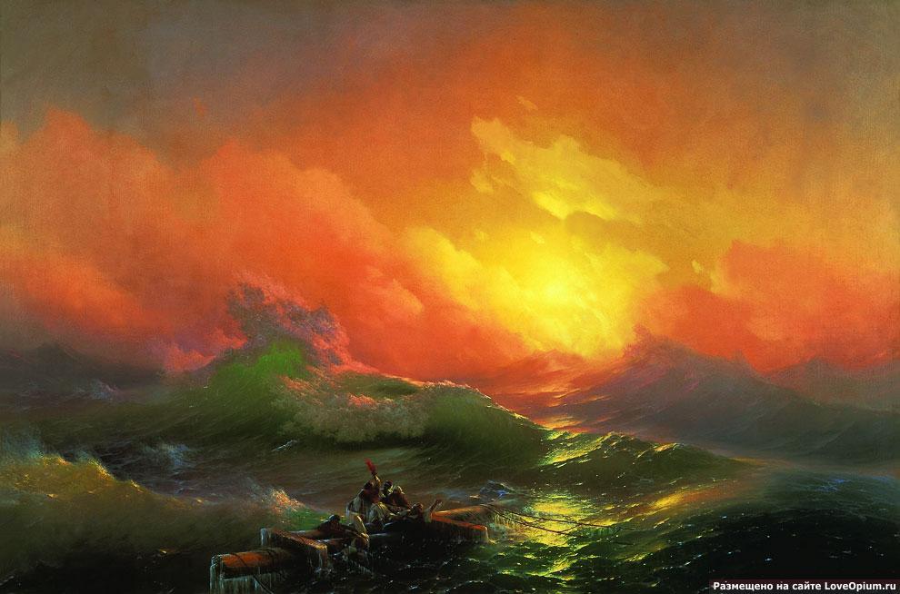 Картина Ивана Айвазовского «Девятый вал»