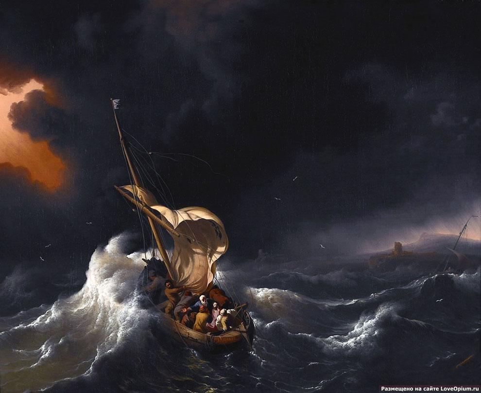 Картина «Христос во время шторма на море Галилейском»