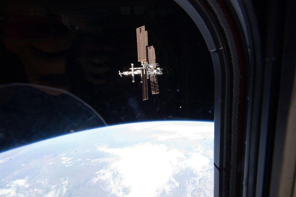 Вид на Международную Космическую Станцию