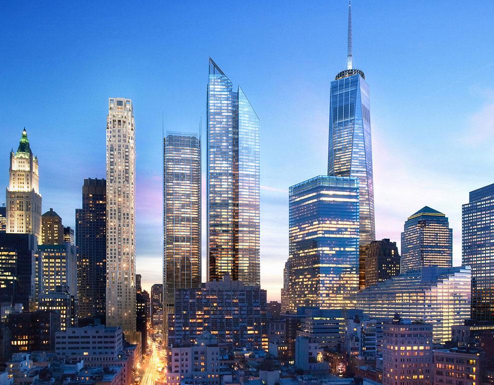 Проект небоскребов нового Всемирного торгового центра