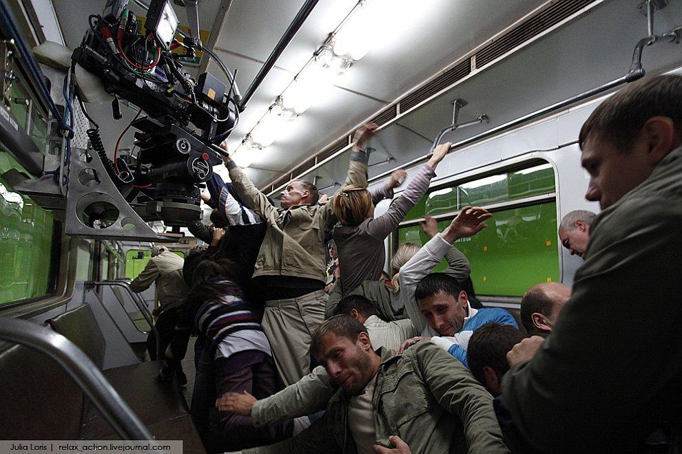 На съемках российского фильма-катастрофы «Метро»
