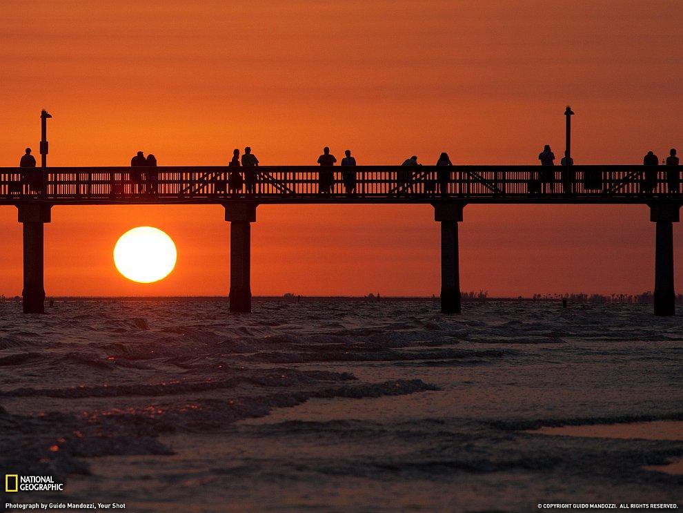 Закат на пляже Флориды