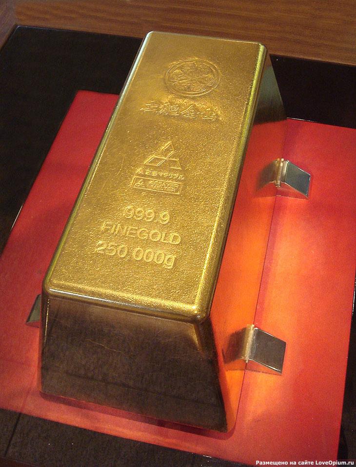 Cамый большой в мире слиток золота