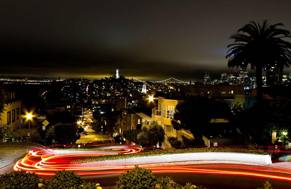 Самая кривая в мире улица из Сан-Франциско