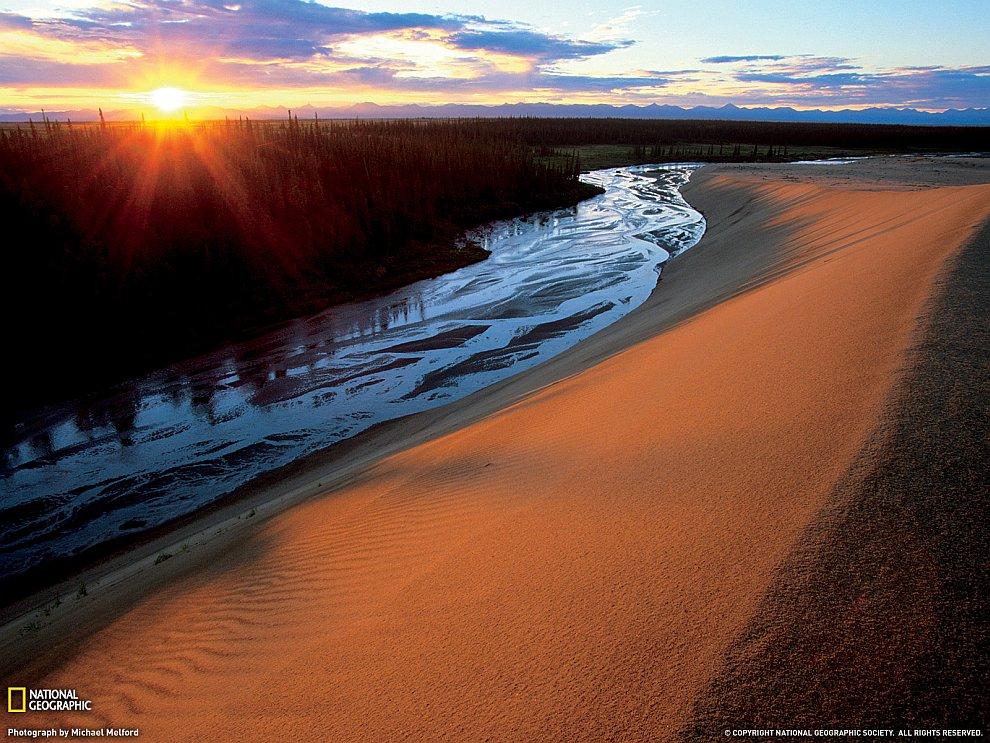 Большие песчаные дюны Кобук