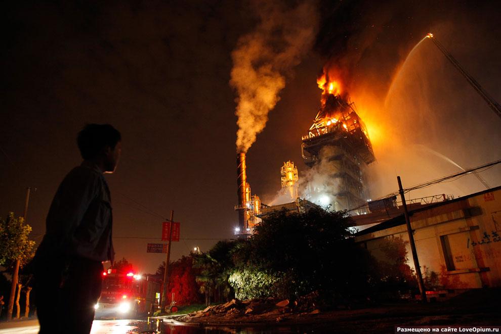Крупный пожар
