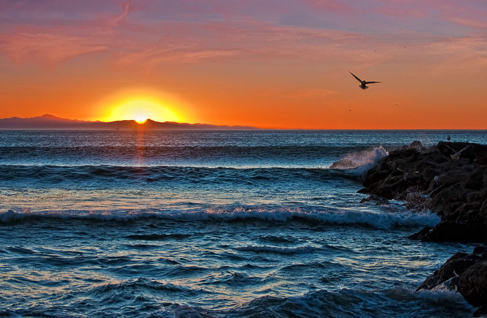 Закат над островами Санта-Крус