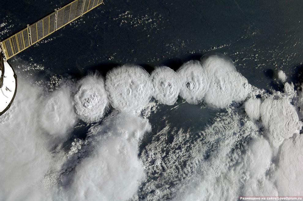 Фотографии Земли с Международной Космической Станции