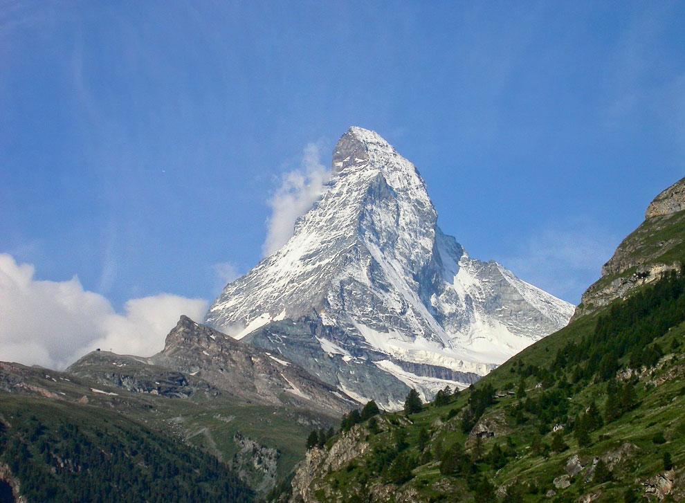 Гора в Альпах Ма?ттерхорн