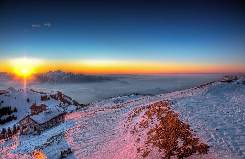 Гора Rigi в центральной Швейцарии