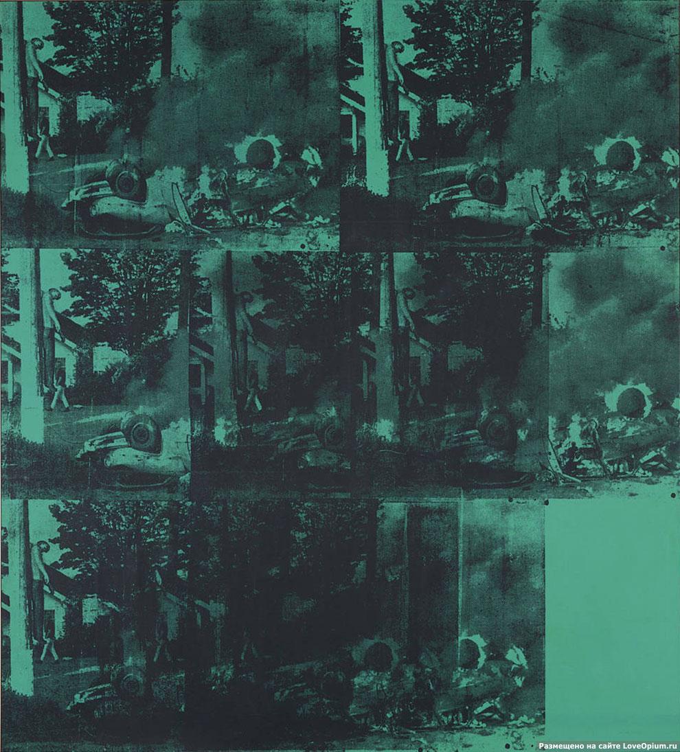 «Авария зеленой машины», Энди Уорхол