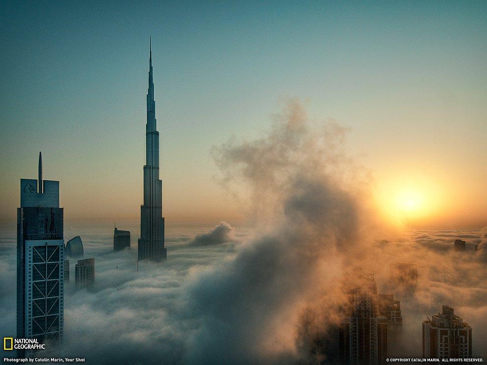 Бурдж-Халифа в тумане, Дубай