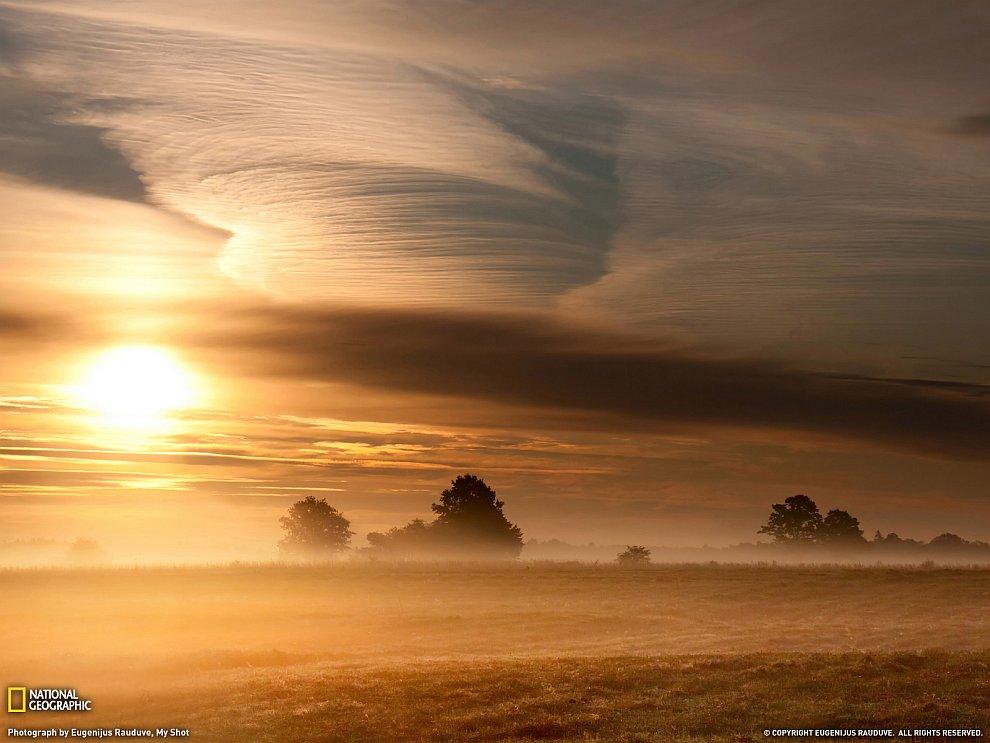 Утренний пейзаж, Литва