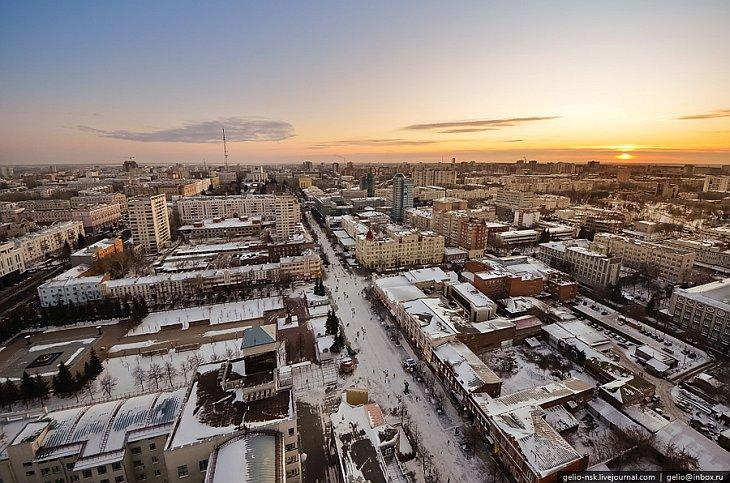 Челябинск с высоты птичьего полета