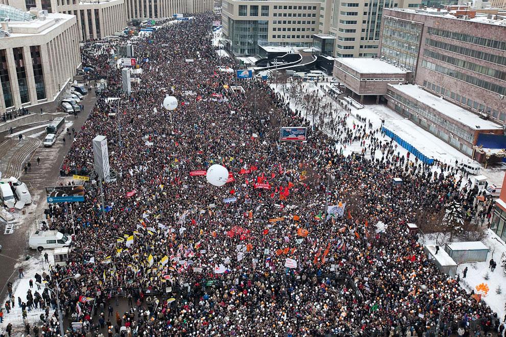 Акция протеста против фальсификаций на выборах в Госдуму