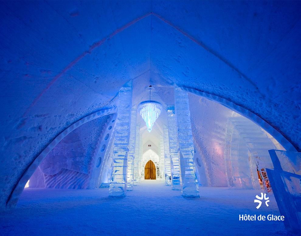 Уникальный ледяной отель в Канаде