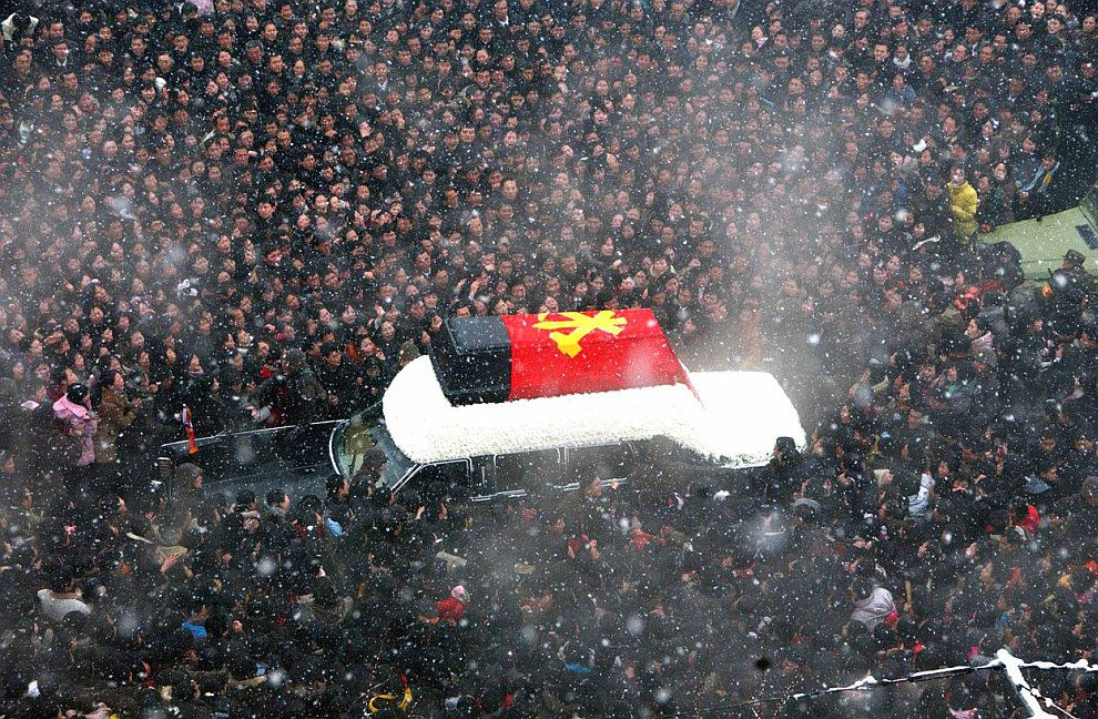 Церемония прощания с Ким Чен Иром в Северной Корее