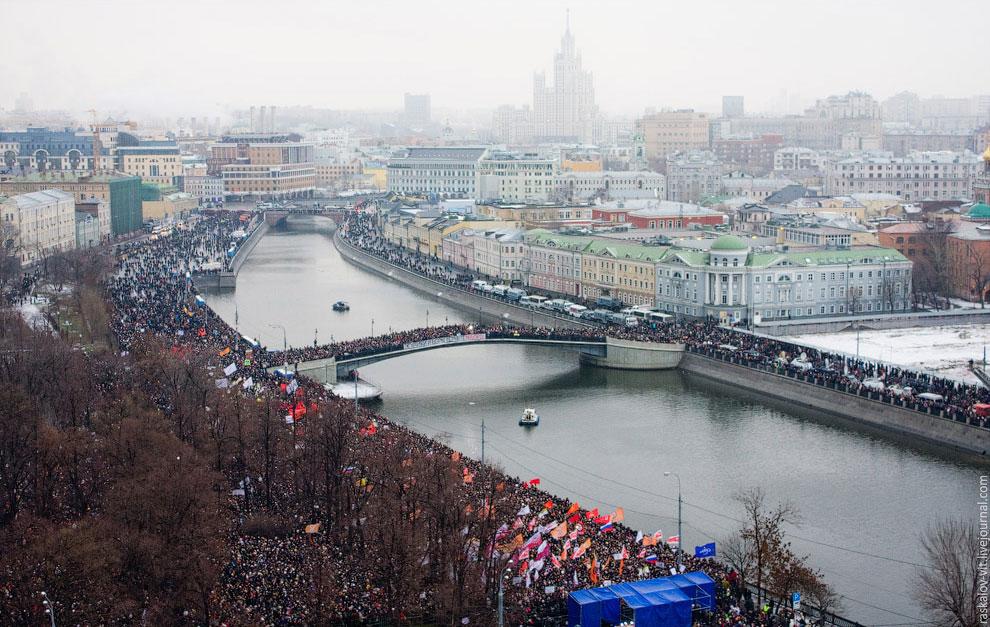 Митинг на Болотной площади в Москве против фальсификации выборов