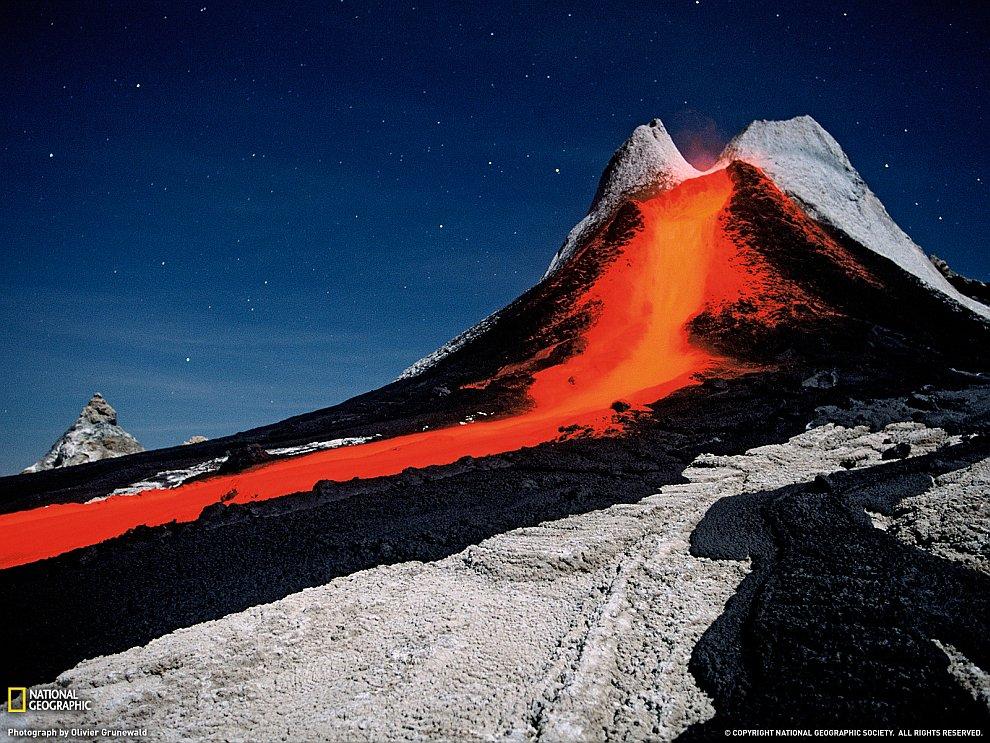 Вулкан в Танзании