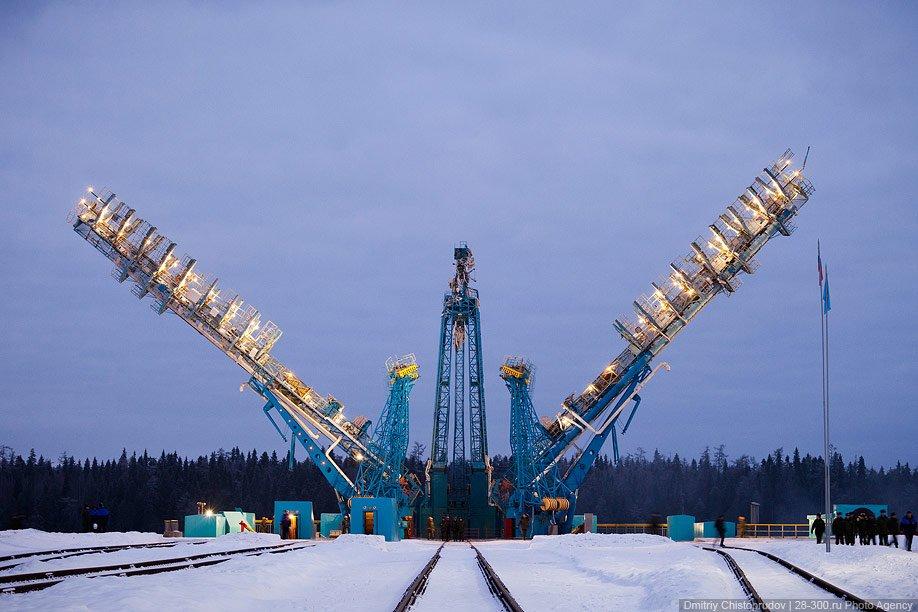 Старт космического корабля «Союз» с космодрома Плесецк