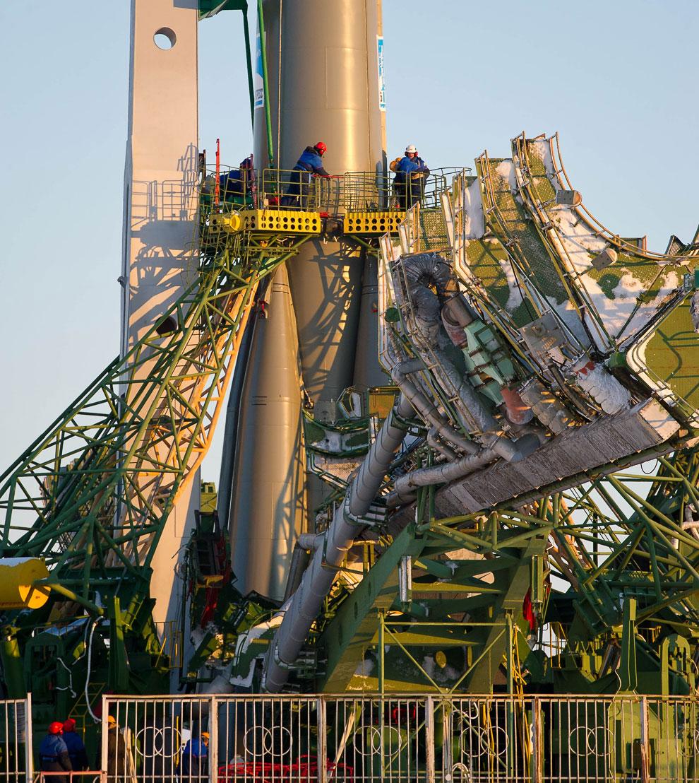 Старт космического корабля «Союз» к Международной космической станции