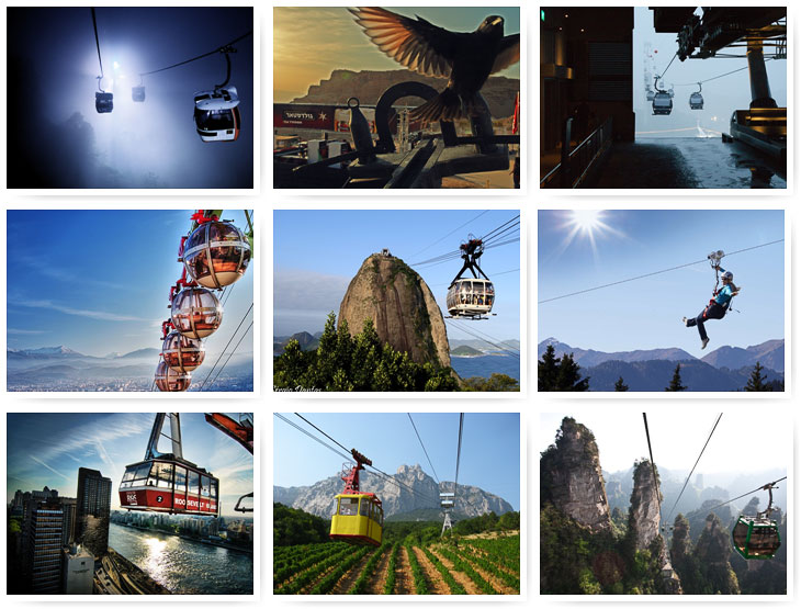 The most prominent cable cars of the world