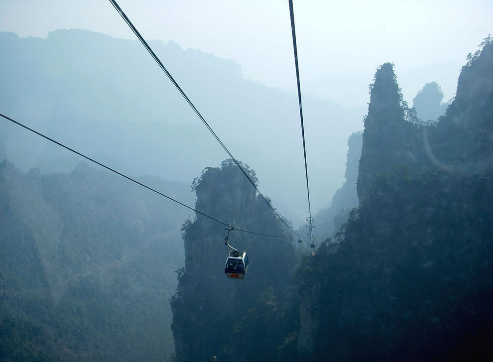 Cable Car in the Park Zhangjiajie (China)