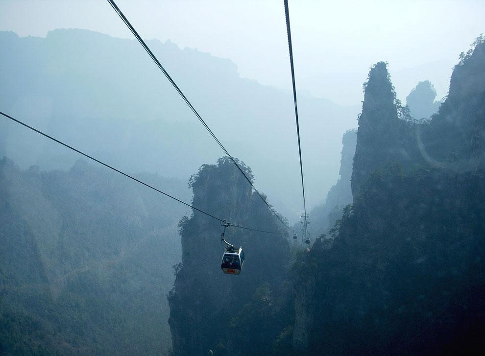 Канатная дорога в парке Чжанцзяцзе (Китай)