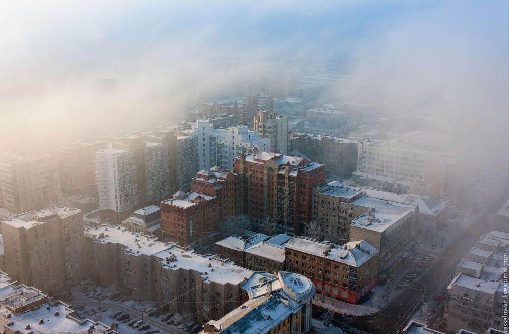 Зимний Красноярск