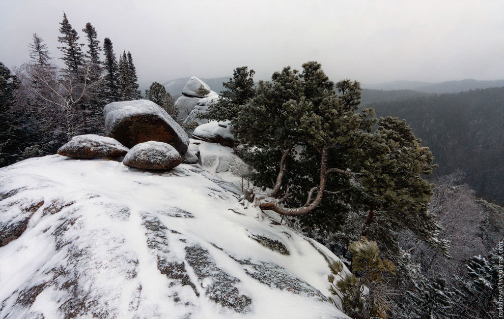 Заповедник «Красноярские столбы» зимой