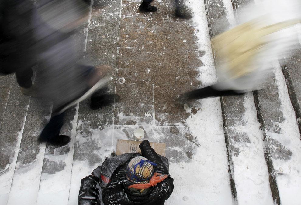 Аномальный холод в Европе