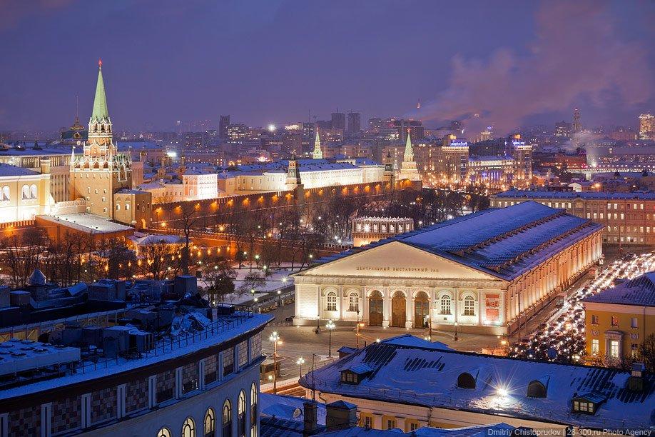 Виды Москвы с крыши отеля Ritz-Carlton