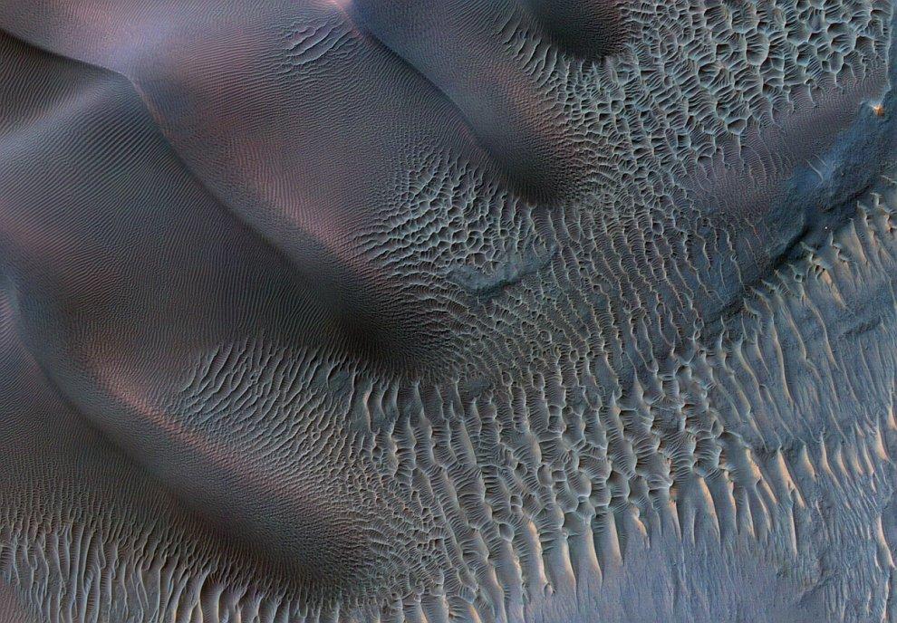 Дюны на поверхности Марса