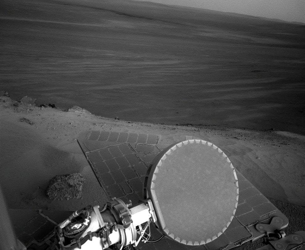 Марсоход Оппортьюнити у кратера Индевор