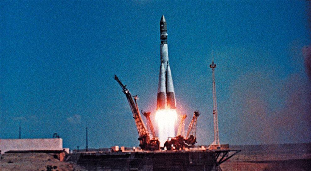 Старт космического корабля «Восток-1»