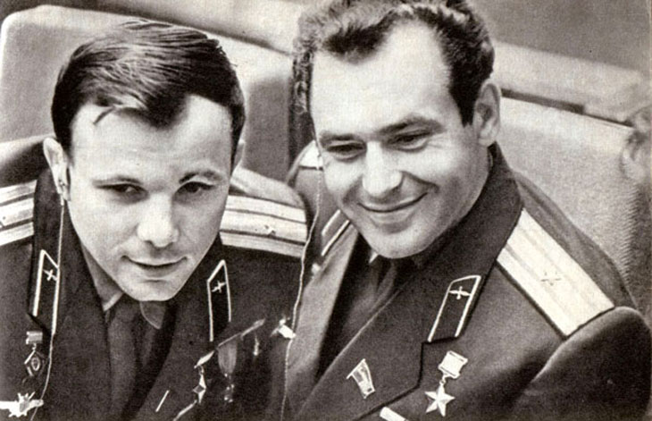 Юрий Гагарин и Герман Титов