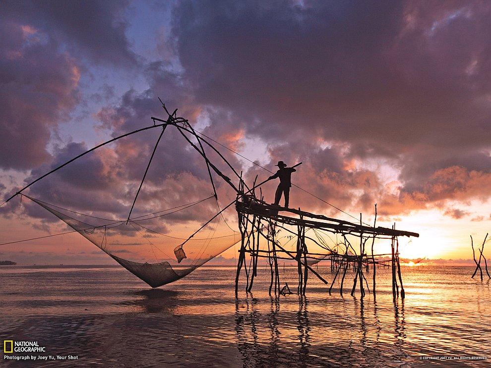 Рыбак в Таиланде