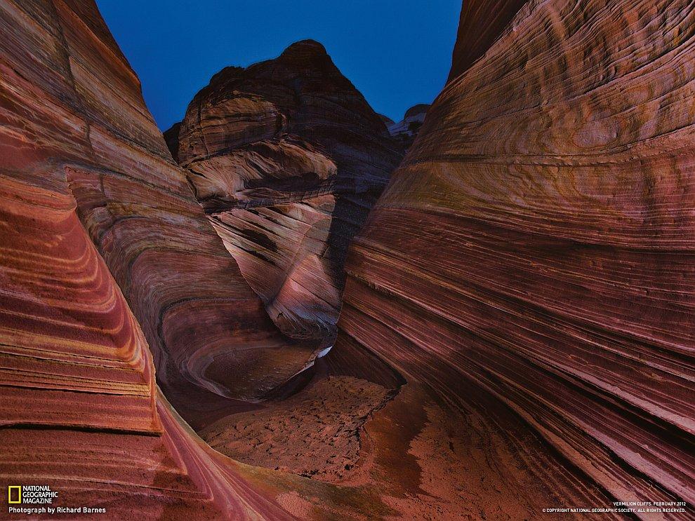 Окаменелые песчаные дюны, штат Аризона