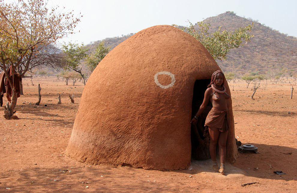 Традиционный дом Химба