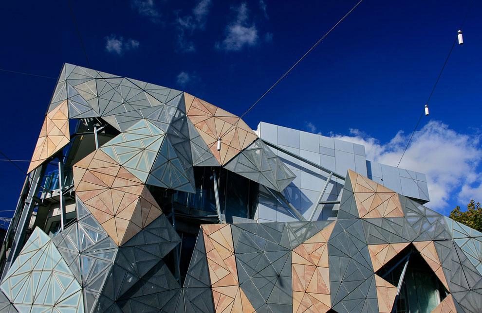 Площадь Федерации в центральной части Мельбурна