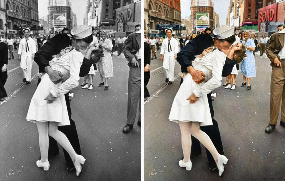 Поцелуй на Таймс-сквер