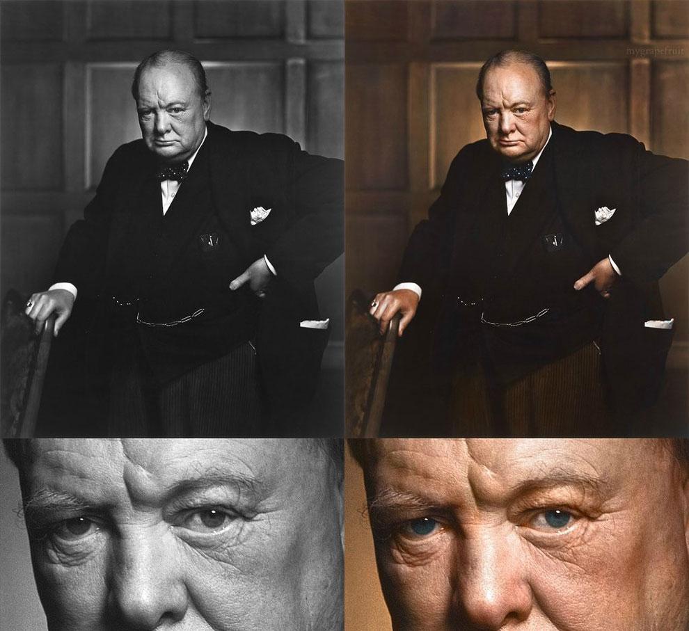 Фотопортрет Черчилля
