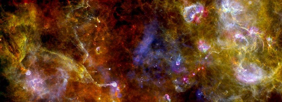 Инфракрасное изображение Лебедя X