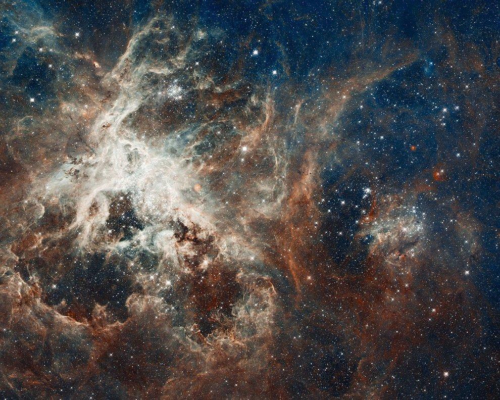 Образование звезд в туманности Тарантул