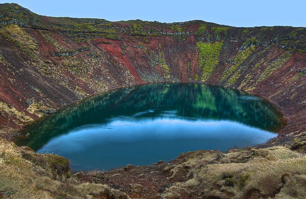 Кратерное озеро Кериз, Исландия