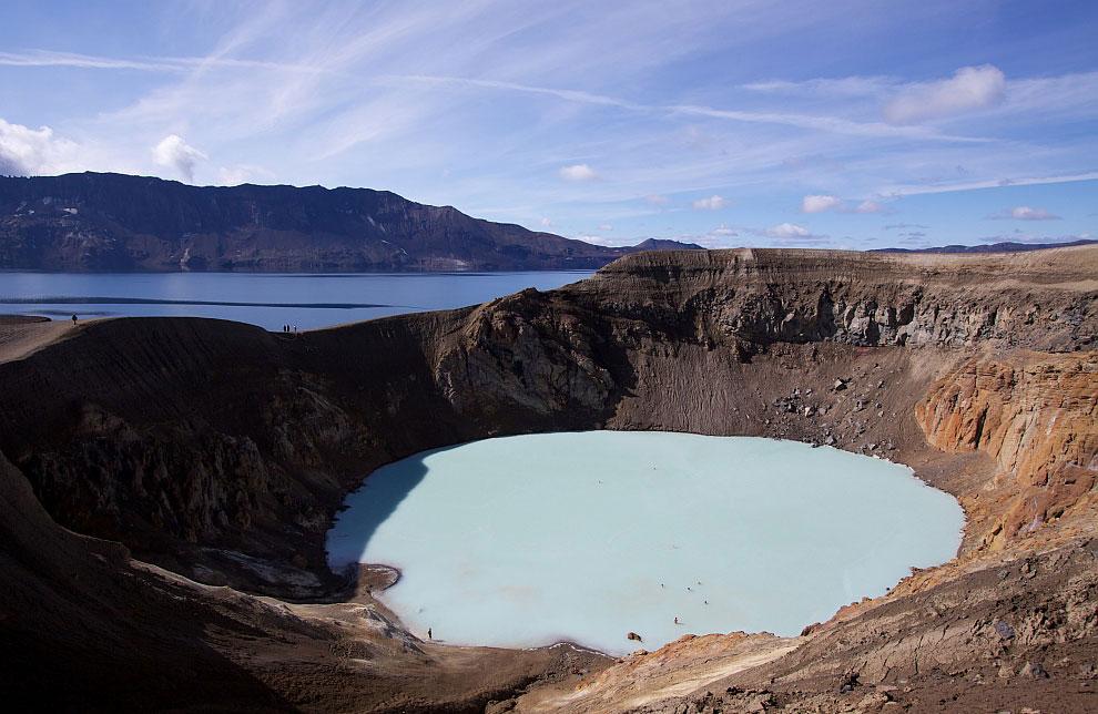 Геотермальное кратерное озеро Вити, Исландия